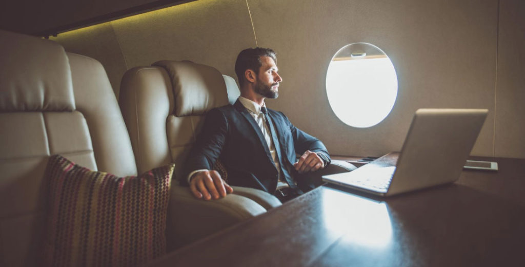 Private Jet Charter Businessman